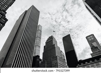 New York Skyscrapers black and white