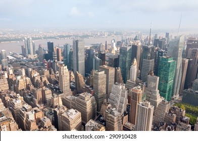 New York skyscrapers from an observation point
