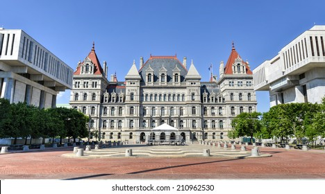 The New York State Capitol Building in Albany, home of the New York State Assembly.