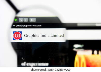 New York, New York State, USA - 19 June 2019: Illustrative Editorial of Graphite India website homepage. Graphite India logo visible on display screen.
