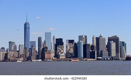 New York from the Staten Island ferry