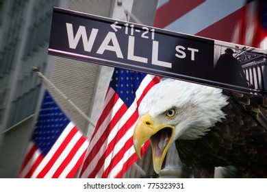 New York Stock Exchange on Wall Street in New York in the United States of America.