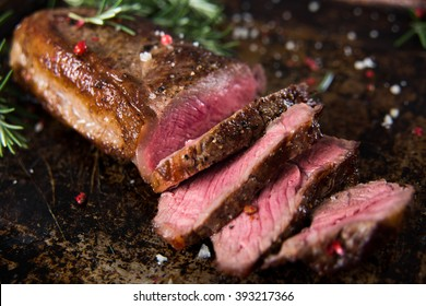 New York Strip Top Loin Steak Medium Rare