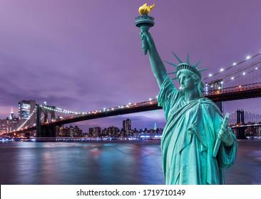 New York sunset view. New York City, USA.