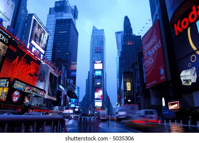New York Time Square at dawn