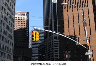 New York, traffic light