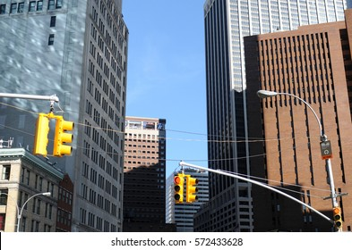 New York, traffic lights