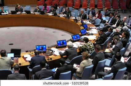 New York, United States. 25th August 2016. Security Council 7760 meeting United Nations Interim Administration Mission in Kosovo