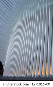 New York, New York, United States of America - 07072018: The Oculus architecture from outside