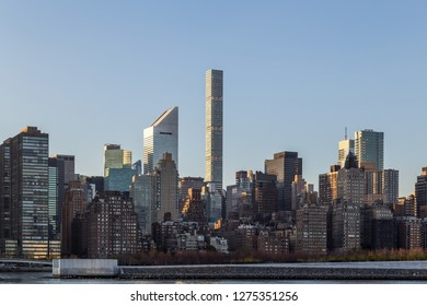 New York, United States of America - November 17, 2016: Skyscrapers in Midtown Manhattan