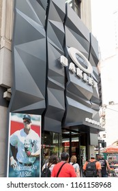 New York, United States, August 18, 2018:The Oakley store in New York. Oakley currently holds more than 600 patents for eyewear, materials, and performance gear.