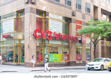 New York, United States, August 18, 2018:CVS Pharmacy Retail Location. CVS is the Largest Pharmacy Chain in the US VI