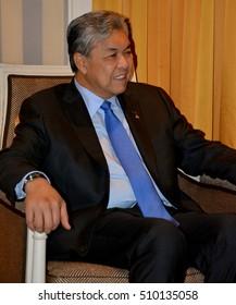 NEW YORK, UNITED STATES - AUGUST 24TH, 2016. Ahmad Zahid Hamidi, a Malaysian Deputy Prime Minister