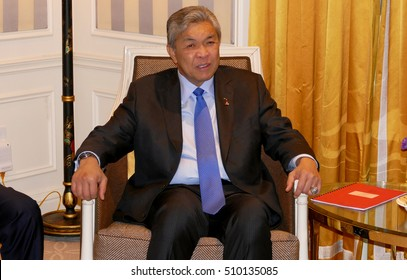 NEW YORK, UNITED STATES - AUGUST 24TH, 2016. Ahmad Zahid Hamidi, Deputy Prime Minister of Malaysia