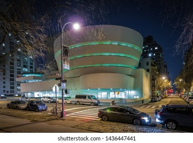 NEW YORK, UNITED STATES - DECEMBER 27, 2009: Guggenheim Museum in New York City, United States of America.