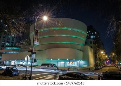 NEW YORK, UNITED STATES - DECEMBER 27, 2009: Guggenheim Museum in New York City, United States of America.