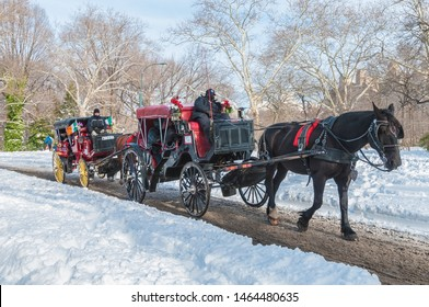 NEW YORK, UNITED STATES - DECEMBER 20, 2009: Winter day in Central Park, New York City, United States of America.