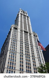 NEW YORK, UNITED STATES - JULY 6, 2013: Woolworth Building exterior view in New York. Woolworth Building was the tallest in the world from 1913 to 1930.