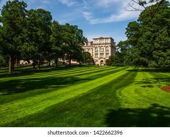 New York - United States, June 26, 2015 -   The Mertz Library in the New York Botanical Garden in Bronx in New York