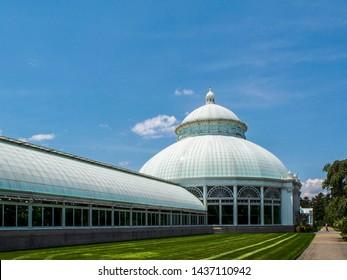 New York - United States, June 26, 2015 -Enid Haupt Conservatory in New York Botanical Gardening New York City