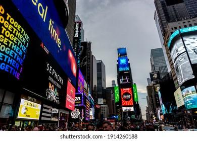 New york, United States, June 29 2019 : Vibrant Times Square before the COVID-19 spread