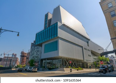 New York, United States - May 9, 2018 : The Whitney museum of American art. The museum is focus on 20th- and 21st-century American art.