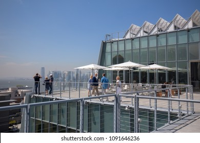 New York, United States - May 9, 2018 : The rooftop view of the Whitney Museum of Art in New York City