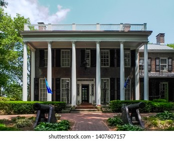 New York - United States, May 31 - 2015 Admiral's House in Governors Island in New York