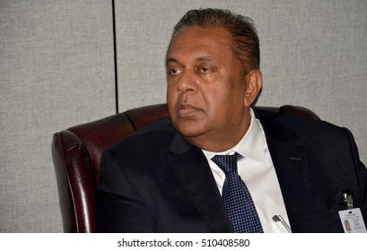 New York, United States. September 19th 2016 - Mangala Pinsiri Samaraweera, Sri Lankan Minister of Foreign Affairs