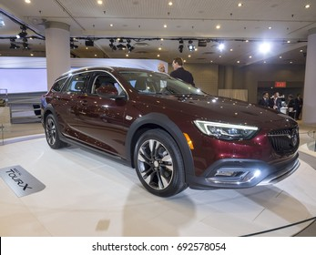 NEW YORK, US - APRIL 12, 2017: Buick Regal TourX on display during the 2017 New York International Auto Show held at the Jacob Javits Center.