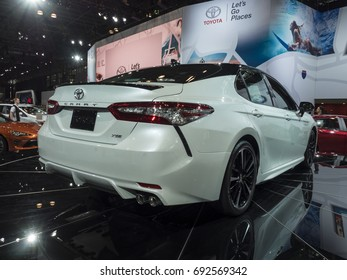 NEW YORK, US - APRIL 13, 2017: Toyota Camry on display during the 2017 New York International Auto Show held at the Jacob Javits Center.