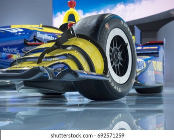 NEW YORK, US - APRIL 13, 2017: Honda Indy car on display during the 2017 New York International Auto Show held at the Jacob Javits Center.