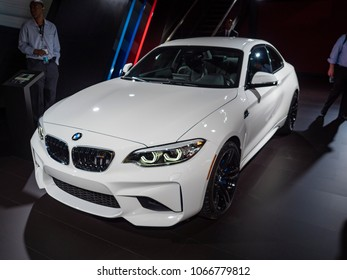 NEW YORK, US - MARCH 28, 2018: BMW M2 on display during the 2018 New York International Auto Show held at the Jacob K. Javits Convention Center.