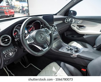 NEW YORK, US - MARCH 28, 2018: Mercedes GLC on display during the 2018 New York International Auto Show held at the Jacob K. Javits Convention Center.