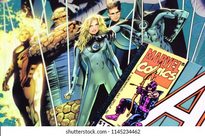 NEW YORK, US - May 4, 2018.: Comics FANTASTIC FOUR on cover. MARVEL COMICS. US.