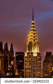 NEW YORK , US - October 24, 2015: The Chrysler Building is an Art Deco style skyscraper located on the East Side of Midtown Manhattan in New York City