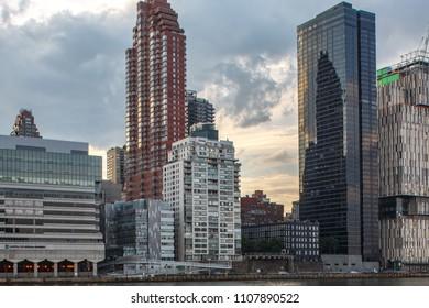 New York, New York / USA - 06 01 2018: Manhattan skyline.