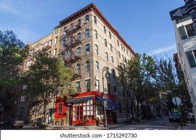 New York, New York, USA; 08 31 16: friends series building