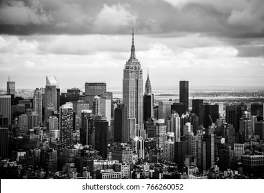New York, USA - 09/30/17: Empire State Manhattan