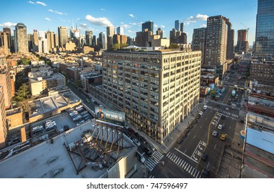 New York, USA - 10 May 2017: New York City. Wonderful panoramic aerial view of Manhattan Midtown Skyscrapers. New York, USA cityscape