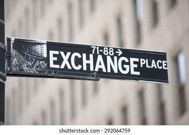 NEW YORK - USA - 11 JUNE 2015 wall street sign