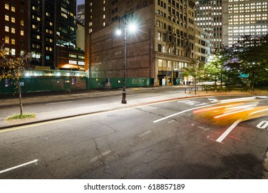 New York, USA - 20 October, 2016: blurred cars on a road.
