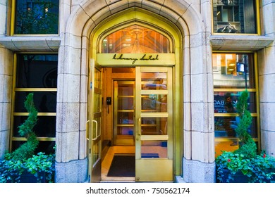 NEW YORK, USA. 28 OCTOBER 2017. Exterior of The Library Hotel New York