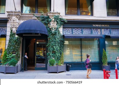 NEW YORK, USA. 28 OCTOBER 2017. Exterior of the NOMAD Hotel