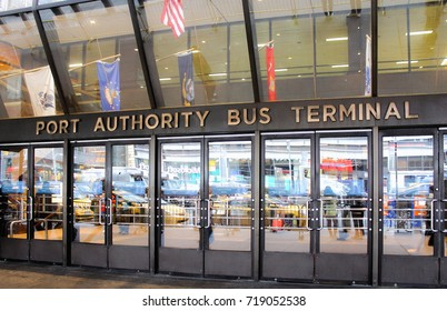 New York, USA - 28 September, 2016: The Port Authority Bus Terminal is the main gateway for interstate buses into Manhattan in New York City.
