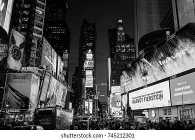 NEW YORK USA -30 OCT 2017. Times Square At Night