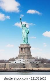 New York, USA - American symbol, Statue of Liberty.