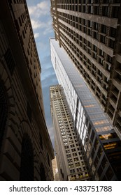 NEW YORK, USA - Apr 28, 2016: Manhattan modern architecture. Manhattan is the most densely populated of the five boroughs of New York City