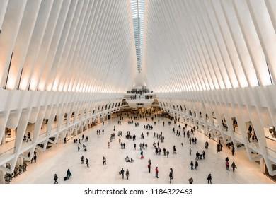New York, USA - April 12, 2018: The Oculus