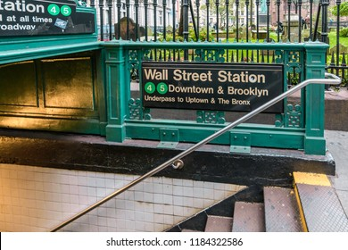 New York, USA - April 12, 2018: Subway